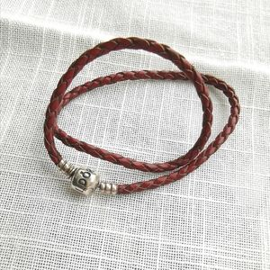 New Pandora leather cord double bracelet